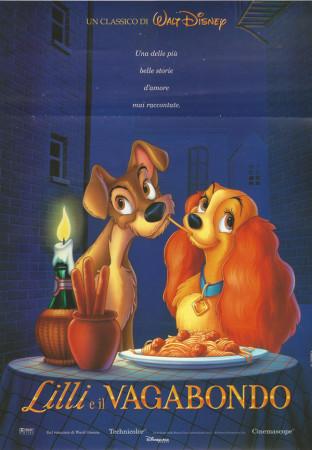 """1997 * Affiches De Cinéma """"La Belle et le Clochard - Walt Disney"""" Fantasy Anime"""