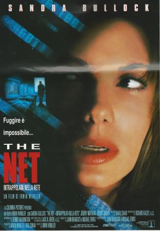"""1996 * Affiches De Cinéma """"Traque sur Internet - Sandra Bullock"""""""