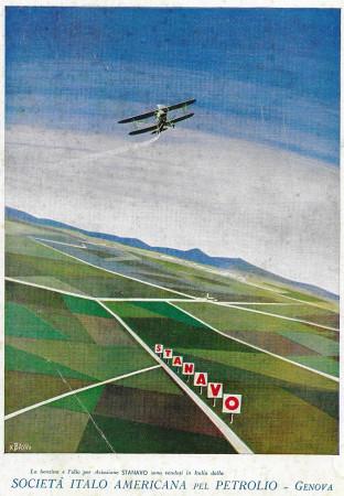 "1932 * Publicité Original ""Stanavo - Benzina Per L'Aviazione - BASSI"" dans Passepartout"