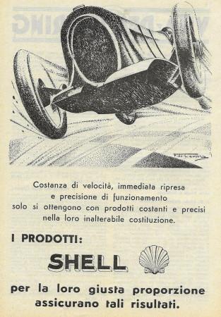 """1932 * Publicité Original """"Shell - Giusta Proporzione e Risultati"""" dans Passepartout"""