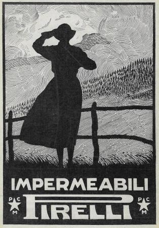 "1928 * Publicité Original ""Pirelli - Impermeabili"" dans Passepartout"