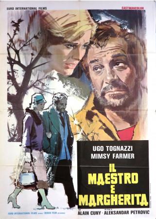 """1972 * Affiche 2F De Cinéma """"Il Maestro e Margherita - Ugo Tognazzi, Mimsy Farmer"""" Drame (B)"""
