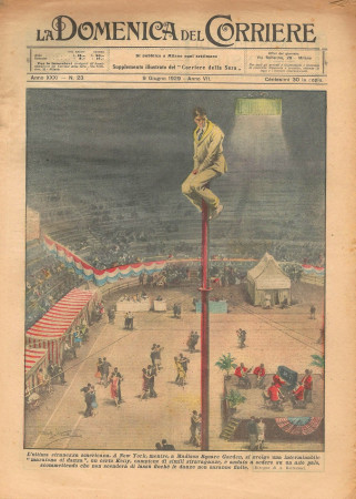 """1929 * Magazine Historique Original """"La Domenica Del Corriere (N°23) - L'Ultima Stranezza Americana"""""""