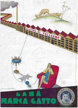 "1932 * Publicité Original ""Lana Gatto - Filatura di Tollegno - MATELDI"" dans Passepartout"