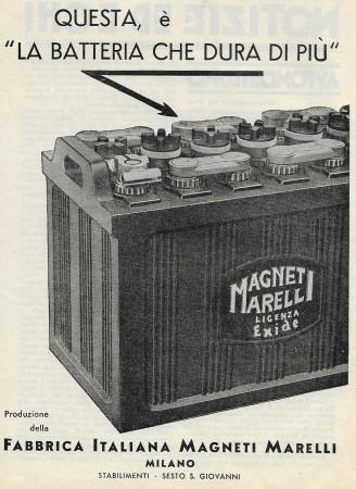 """1932 * Publicité Original """"Magneti Marelli - Stabilimenti Sesto S.Giovanni"""" dans Passepartout"""