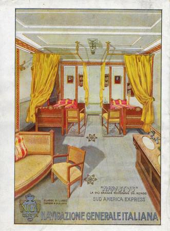 "1928 * Publicité Original ""Navigazione Generale Italiana - Augustus - Sud America Express"" dans Passepartout"