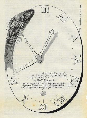 """1932 * Publicité Original """"Shell - Dynamin"""" dans Passepartout"""