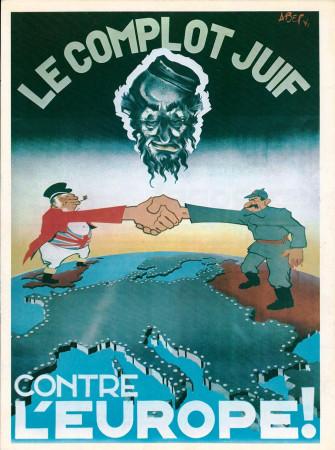"""ND (WWII) * Propagande de Guerre Reproduction """"Governo Di Vichy - Il Complotto Giudaico Contro L'Europa"""" dans Passepartout"""