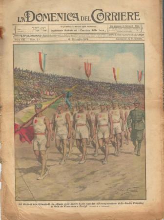 """1919 * La Domenica Del Corriere (N°27) """"Italiani alle Olimpiadi a Parigi"""" Magazine Original"""