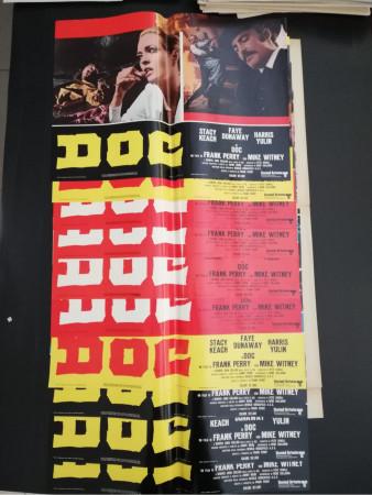"1971 * Set 10 Affiches De Cinéma ""Doc - Frank Perry, Faye Dunaway, Stacy Keach"" Western (B+)"