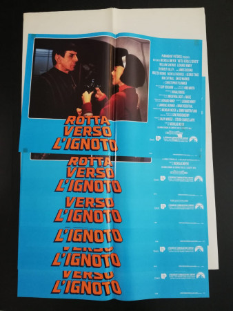 "1991 * Set 6 Affiches De Cinéma ""Star Trek VI Rotta Verso Ignoto - Nicholas Meyer"" Fantastique (B)"