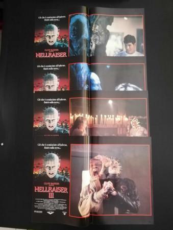 """1992 * Set 4 Affiches De Cinéma """"Hellraiser III - A Hickox, D Bradley (Pinhead)"""" Horreur (B)"""