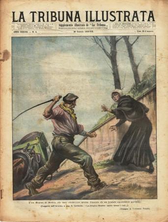"""1930 * Magazine Historique Original """"La Tribuna Illustrata (N°4) - Ex Regina Serbia Frustata"""""""