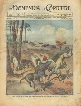 """1912 * La Domenica Del Corriere (N°2) """"Spioni Arabi - Famiglie dei Soldati"""" Magazine Original"""