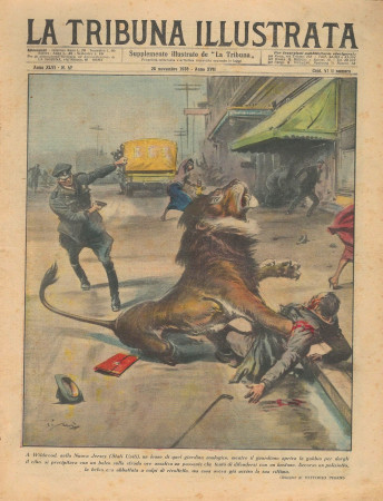 "1938 * La Tribuna Illustrata (N°47) – ""Leone a Wildwood - Bandito Lampeao"" Magazine Original"