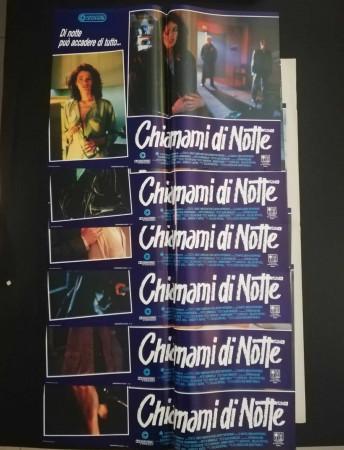"1988 * Set 6 Affiches De Cinéma ""Chiamami di Notte - Sollace Mitchell"" Drame (B)"