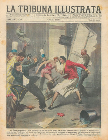 "1931 * Magazine Historique Original ""La Tribuna Illustrata (N°36) - La Donna Vendicativa"""