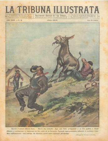 """1931 * Magazine Historique Original """"La Tribuna Illustrata (N°40) - Quando Il Somaro Diventa Leone"""""""