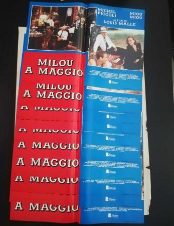 "1989 * Set 10 Affiches De Cinéma ""Milou a Maggio - Michel Piccoli, Miou-Miou"" Drame (B)"
