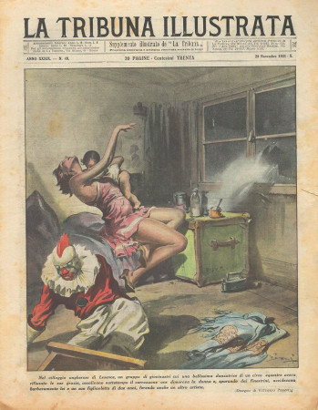 """1931 * Magazine Historique Original """"La Tribuna Illustrata (N°48) - Danzatrice di Circo Assassinata Insieme al Figlio"""""""