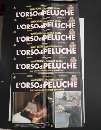 """1994 * Set 6 Affiches De Cinéma """"L'Orso di Peluche - Alain Delon, Francesca Dellera"""" Policier (B)"""