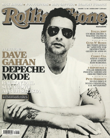 """2007 (N48) * Couverture de Magazine Rolling Stone Originale """"Dave Gahan"""" dans Passepartout"""