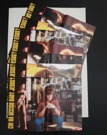 "1992 * Set 8 Affiches De Cinéma ""Chi ha ucciso Baby Jesus? - Douglas Borghi"" Thriller (B+)"