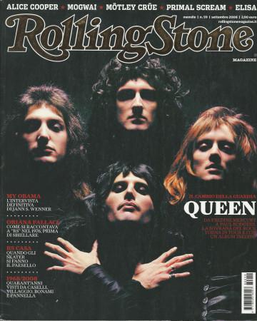 """2008 (N59) * Couverture de Magazine Rolling Stone Originale """"Queen"""" dans Passepartout"""