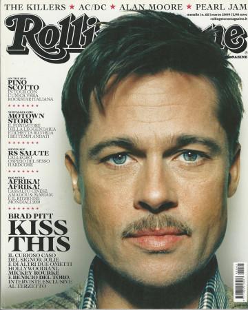 """2009 (N65) * Couverture de Magazine Rolling Stone Originale """"Brad Pitt"""" dans Passepartout"""