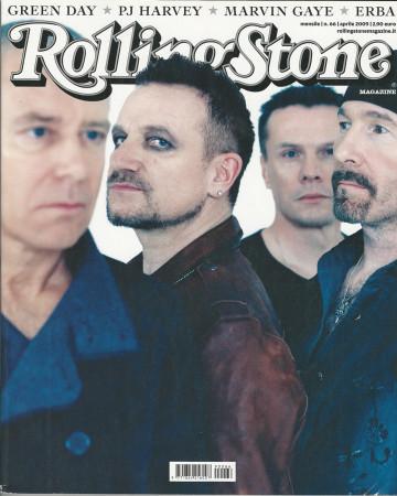 """2009 (N66) * Couverture de Magazine Rolling Stone Originale """"U2"""" dans Passepartout"""
