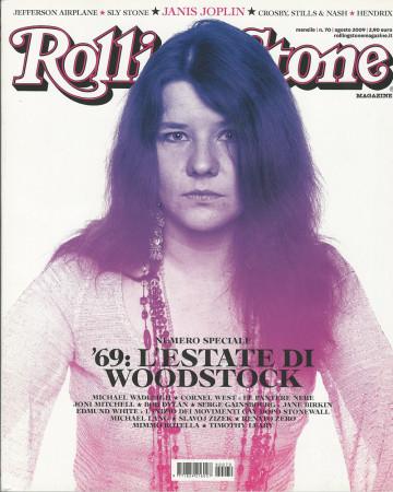 """2009 (N70) * Couverture de Magazine Rolling Stone Originale """"Janis Joplin"""" dans Passepartout"""