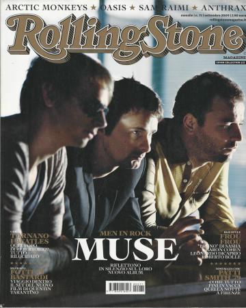 """2009 (N71) * Couverture de Magazine Rolling Stone Originale """"Muse"""" dans Passepartout"""