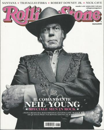 """2010 (N84) * Couverture de Magazine Rolling Stone Originale """"Neil Young"""" dans Passepartout"""