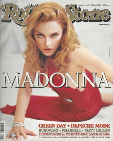 """2006 (N28) * Couverture de Magazine Rolling Stone Originale """"Madonna"""" dans Passepartout"""