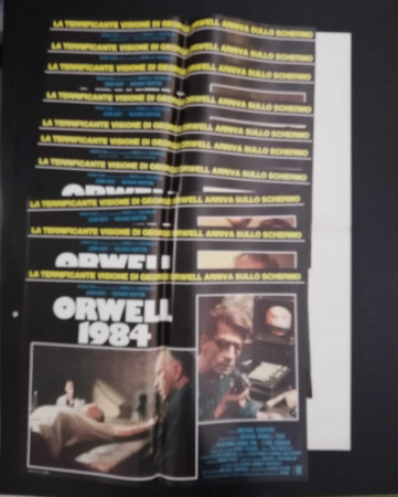 "1984 * Set 10 Affiches De Cinéma ""Orwell 1984 - John Hurt, Richard Burton"" Drame (B)"