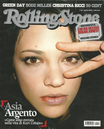 """2005 (N18) * Couverture de Magazine Rolling Stone Originale """"Asia Argento"""" dans Passepartout"""