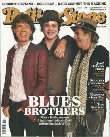 """2008 (N55) * Couverture de Magazine Rolling Stone Originale """"Blues Brothers"""" dans Passepartout"""