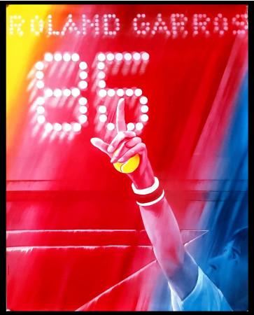 """1985 * Affiche Original """"Roland Garros, Jacques Monory"""" I.M.L. Paris France (B)"""