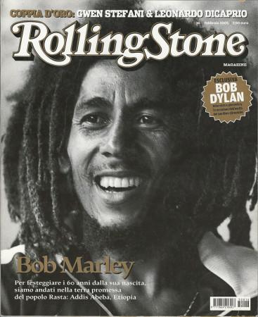 """2005 (N16) * Couverture de Magazine Rolling Stone Originale """"Bob Marley"""" dans Passepartout"""