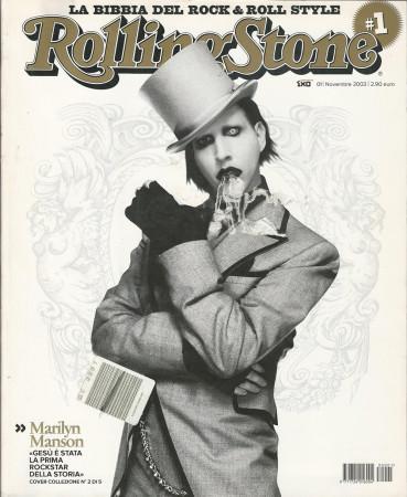 """2003 (N1-2) * Couverture de Magazine Rolling Stone Originale """"Marilyn Manson"""" dans Passepartout"""