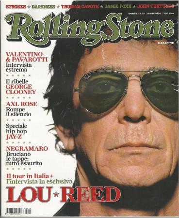 """2006 (N29) * Couverture de Magazine Rolling Stone Originale """"Lou Reed"""" dans Passepartout"""
