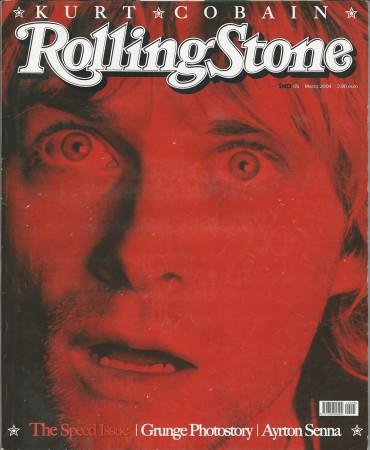 """2004 (N5) * Couverture de Magazine Rolling Stone Originale """"Kurt Cobain"""" dans Passepartout"""