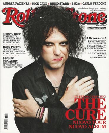 """2008 (N53) * Couverture de Magazine Rolling Stone Originale """"The Cure"""" dans Passepartout"""
