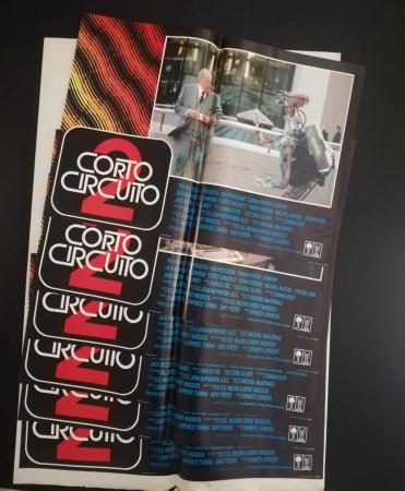"""1988 * Set 6 Affiches De Cinéma """"Corto Circuito 2 - Kenneth Johnson"""" Comédie (B)"""
