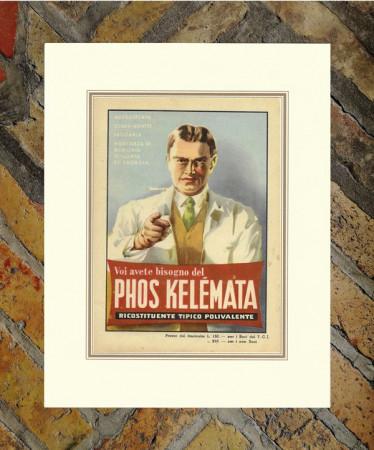 """1949 * Publicité Original """"Phos Kelemata"""" Couleur dans Passepartout"""