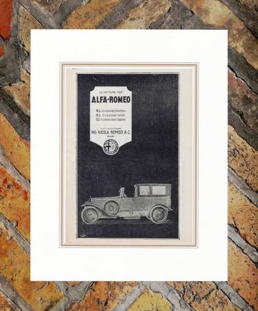 """1923 * Publicité Original """"Alfa Romeo - Vetture"""" dans Passepartout"""