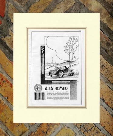 """1930 * Publicité Original """"Alfa Romeo - Vetture"""" dans Passepartout"""