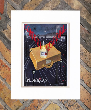 "1939 * Publicité Original ""Campari Cordial In Viaggio -  BIANCHI ALBERTO"" dans Passepartout"