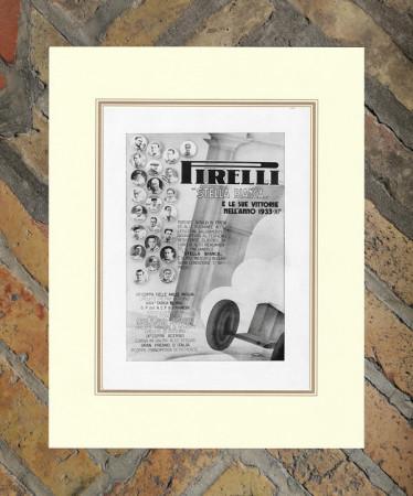 "1934 * Publicité Original ""Pirelli - Vittorie"" dans Passepartout"