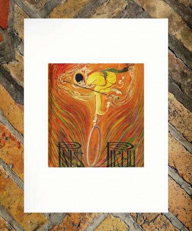 """1917 * Publicité Original """"Pirelli - Pneus - RICCOBALDI"""" dans Passepartout"""